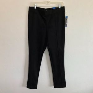 Andrew Marc NWT Black Faux Suede Skinny Pants L